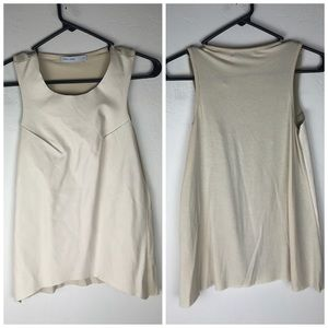 Bishop & Young Faux Leather Cream Top